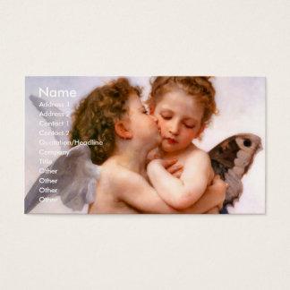 天使は最初に、Bouguereau接吻します 名刺
