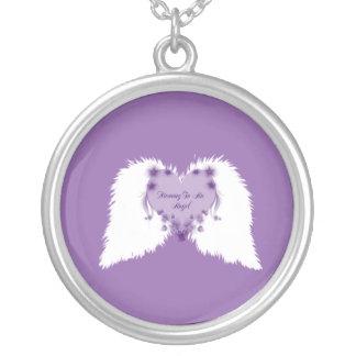 天使への母 シルバープレートネックレス