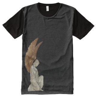 天使を祈ること オールオーバープリントT シャツ