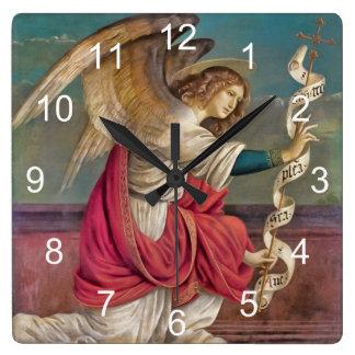 天使ガブリエル スクエア壁時計