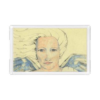 「天使メッセンジャー」のイメージのアクリルの皿 アクリルトレー