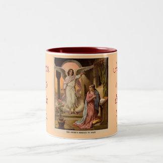 天使メッセージのマグ ツートーンマグカップ
