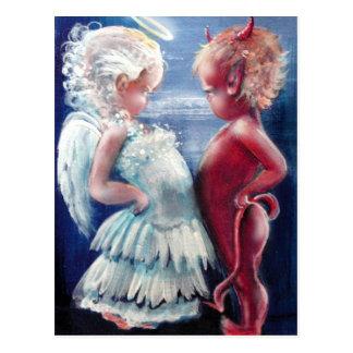 天使対悪魔の郵便はがき ポストカード