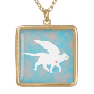 天使猫2のネックレス ゴールドプレートネックレス