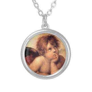 天使1のネックレス シルバープレートネックレス
