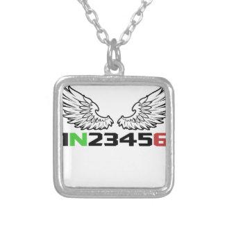 天使1N23456 シルバープレートネックレス