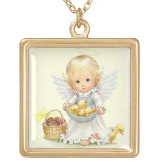 天使 ゴールドプレートネックレス