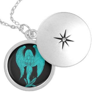 天使 シルバープレートネックレス