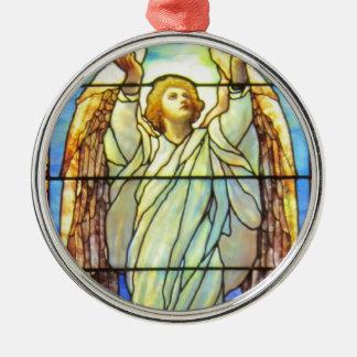 天使、ステンドグラス、 メタルオーナメント