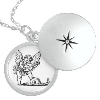 天使-児童の天使 スターリングシルバーネックレス
