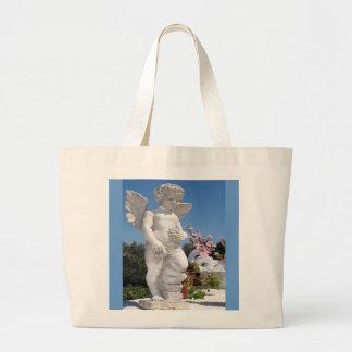 天使 彫像 ジャンボトートバッグ