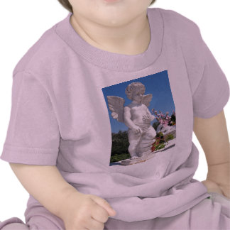 天使|彫像|ピンク T シャツ