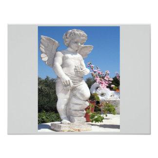 天使|彫像|灰色|II 10.8 X 14 インビテーションカード