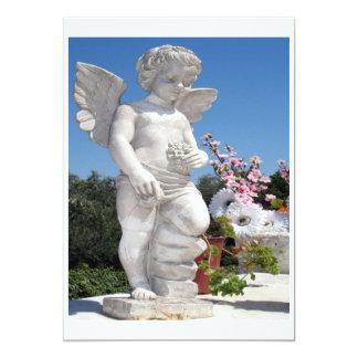天使|彫像|白い 12.7 X 17.8 インビテーションカード