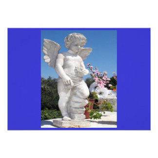 天使 彫像 青い 灰色 I