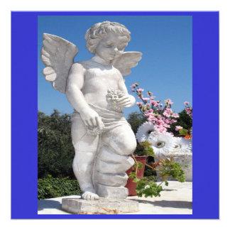 天使 彫像 青い 白い V