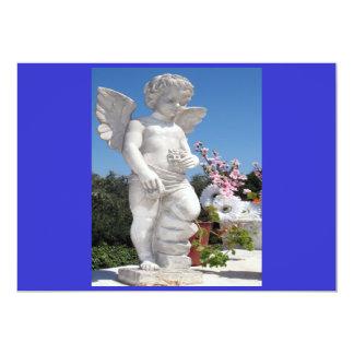 天使|彫像|青い|I 12.7 X 17.8 インビテーションカード