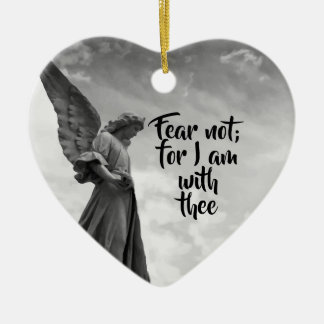 天使、恐れない、感動的な神の保護 セラミックオーナメント