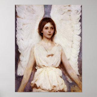天使、Abbott Handerson Thayerのファインアート ポスター