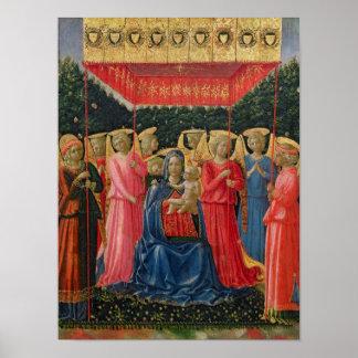 天使、c.1440-50のヴァージンそして子供 ポスター