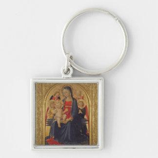 天使、c.1467 (窓ガラスのマドンナそして子供の油 キーホルダー