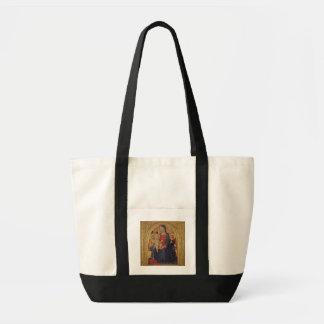 天使、c.1467 (窓ガラスのマドンナそして子供の油 トートバッグ