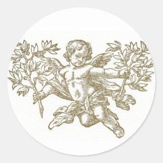 天使Amgel <white> 封筒のステッカー ラウンドシール
