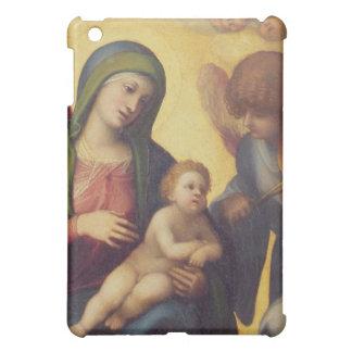 天使c.1510-15 (paのマドンナそして子供の油 iPad miniケース