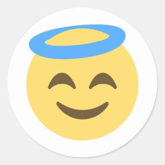天使Emoji ラウンドシール