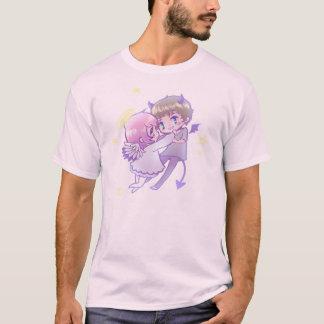 天使Xの鬼はlove Tシャツ