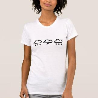 天候システムピクトグラムのTシャツ Tシャツ