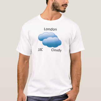 天候ロンドン Tシャツ
