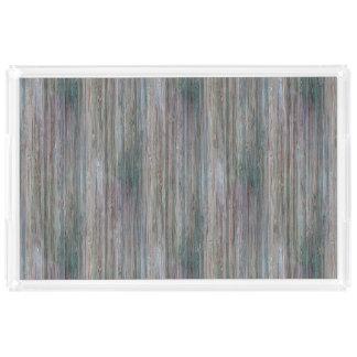 天候打たれたタケ木製の穀物の一見 アクリルトレー
