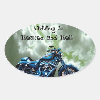 天国および地獄への運転 楕円形シール