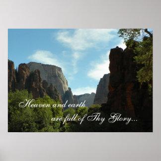 天国および地球はThy栄光の完全です ポスター