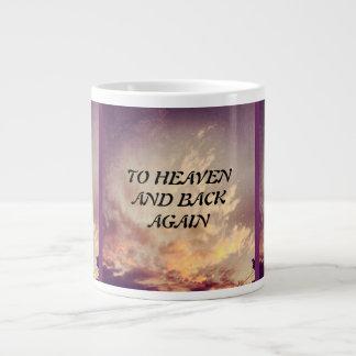 天国および背部に再度マグをすくって下さい ジャンボコーヒーマグカップ