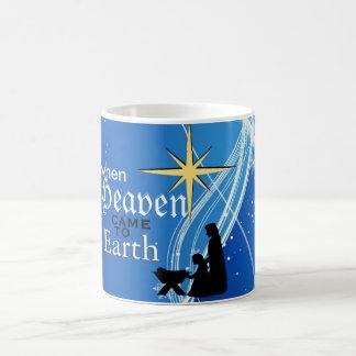 「天国が地球に」の出生のクリスマス来た時 コーヒーマグカップ