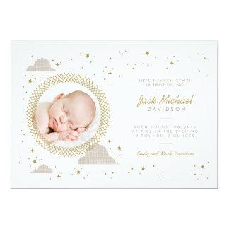 天国によって送られる赤ん坊の誕生の発表 12.7 X 17.8 インビテーションカード