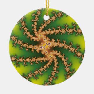 天国のねじれのクリスマスツリーのオーナメント セラミックオーナメント