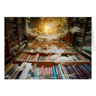 天国のアートワークカードに上る神秘的な本だな カード