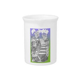 天国のクリームの水差しへの階段 ピッチャー