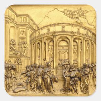 天国のゲート- Baptisteryフィレンツェ-イタリア スクエアシール