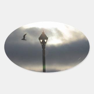 天国のドア 楕円形シール