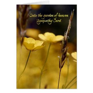 天国の庭に、悔やみや弔慰カード カード