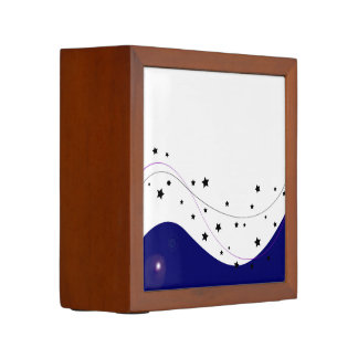 天国の星が付いているデザインの木製箱