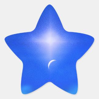 天国の美しく新しい日 星シール