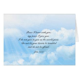 天国の青空のキリスト教の悔やみや弔慰メッセージ カード