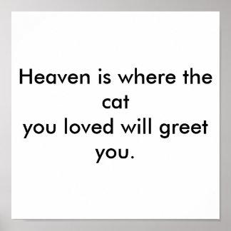天国はあなたが愛した猫が挨拶するところです ポスター