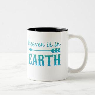 天国は地球にあります ツートーンマグカップ