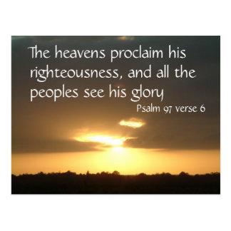 天国は の賛美歌97 v 6を宣言します ポストカード